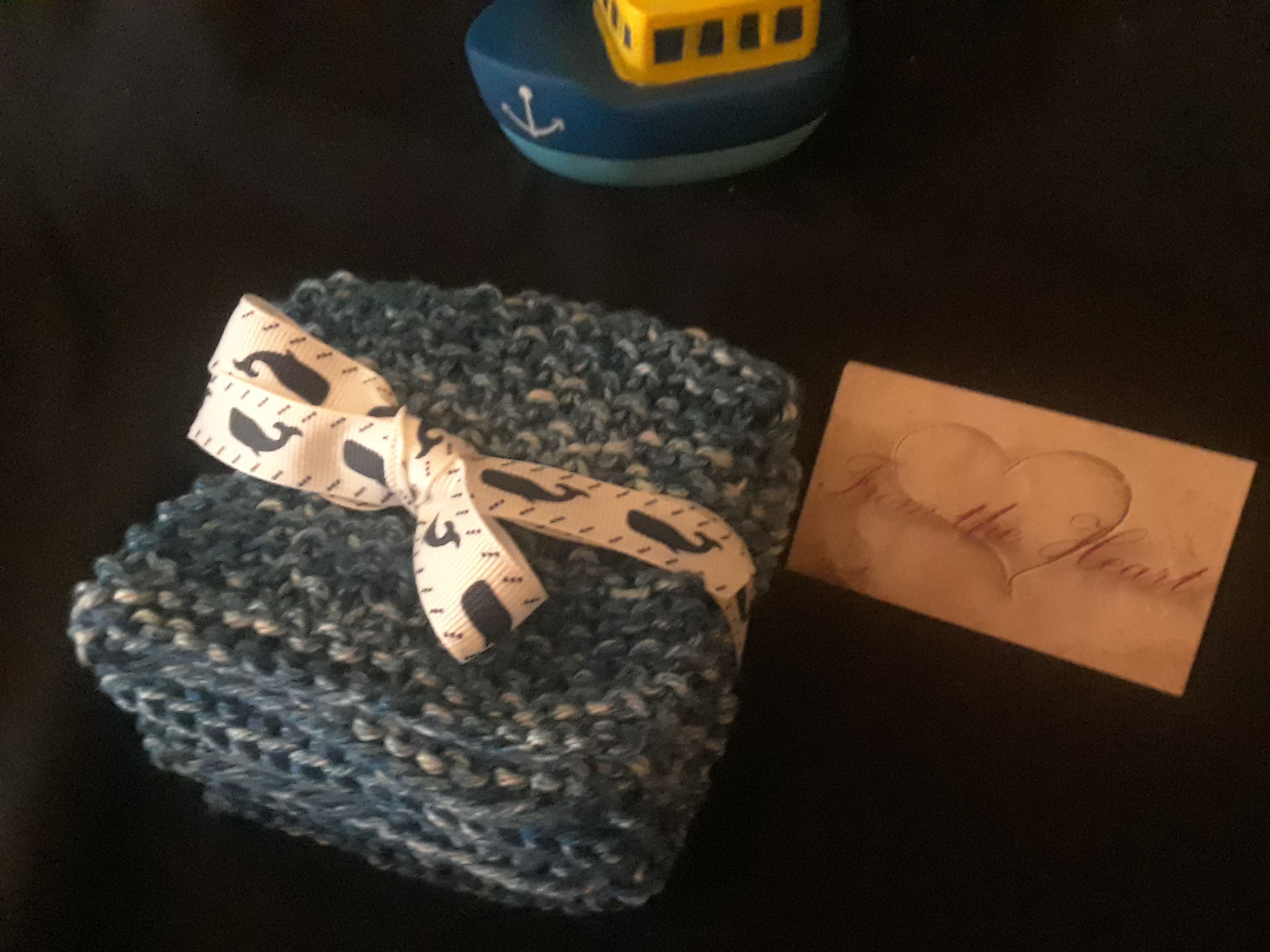 cotton baby gift knit soft blue
