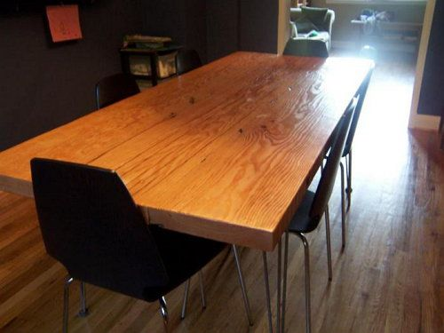 dining make wood table room