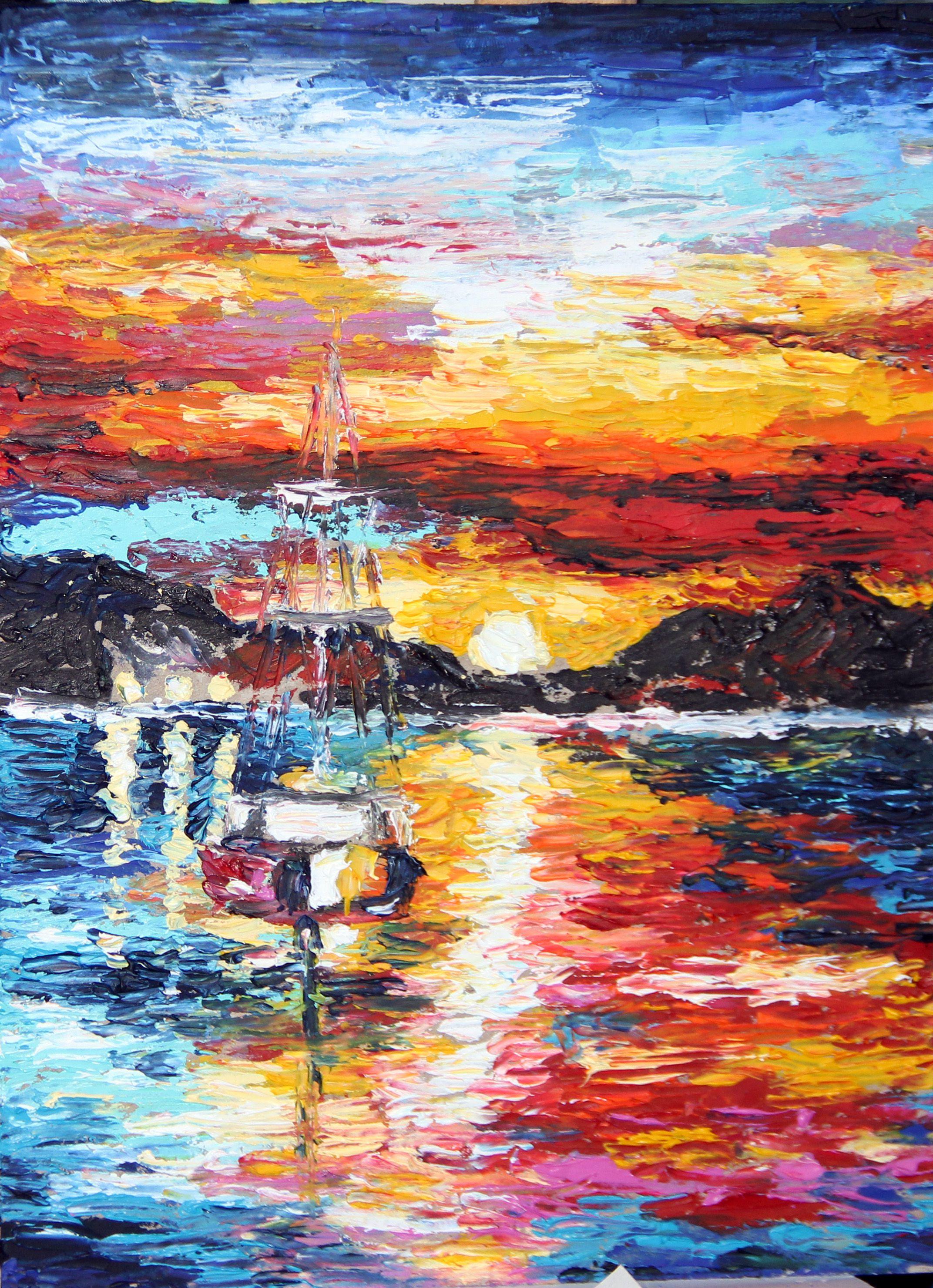 seascape oils painting
