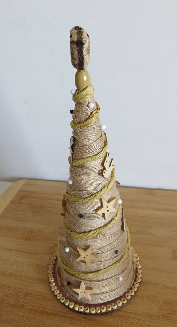 rustic cone holiday decor tree top christmas table