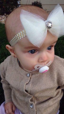 headband bow tulle