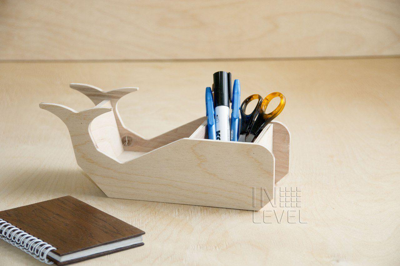 oak whale holder business wood office