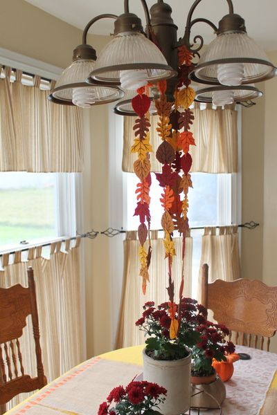 garland fall handmade autumn leaves sewing