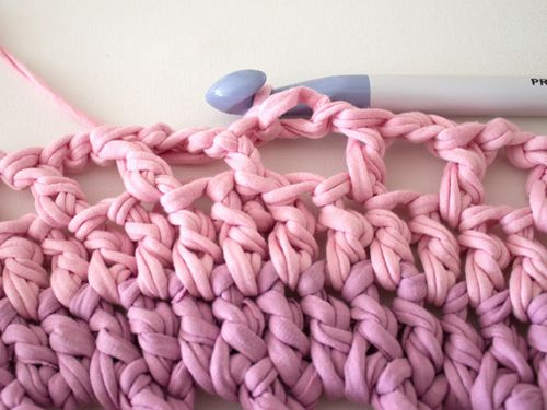goods crochet textile scheme rug