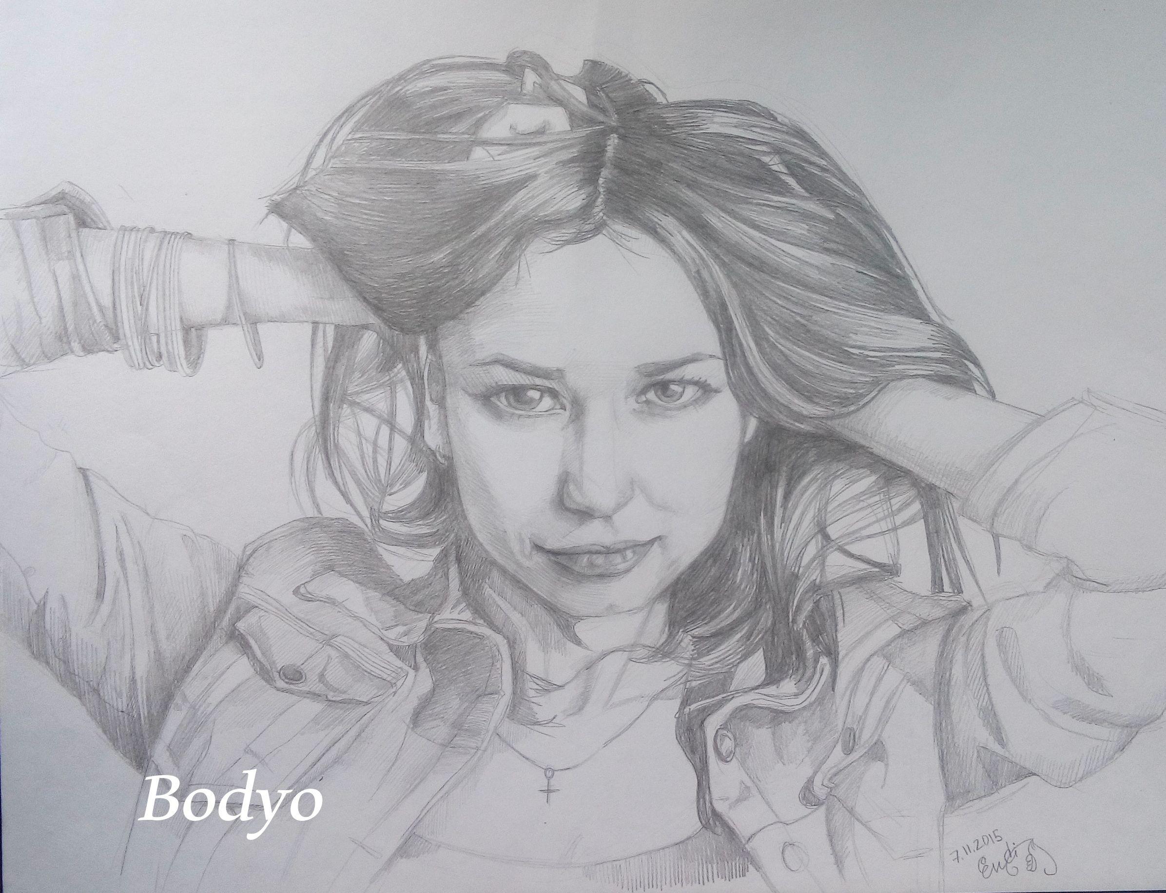 portrait pencil painting art