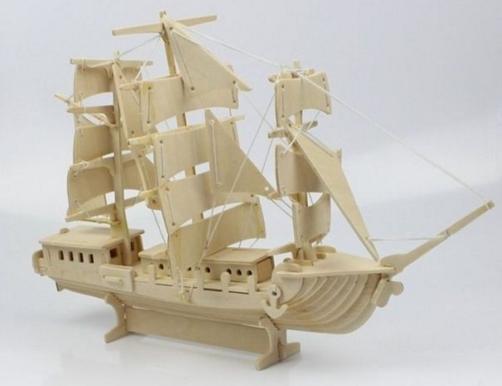 ship house handicraft wood modern art