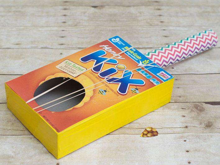 rubber box guitar children paper