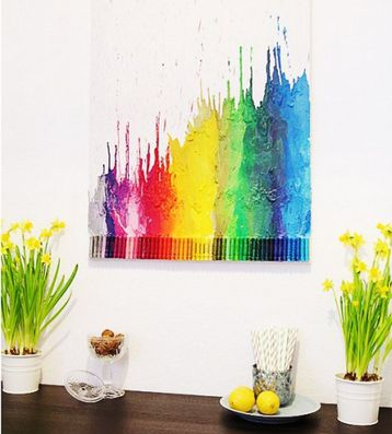 crayon art picture melted draw