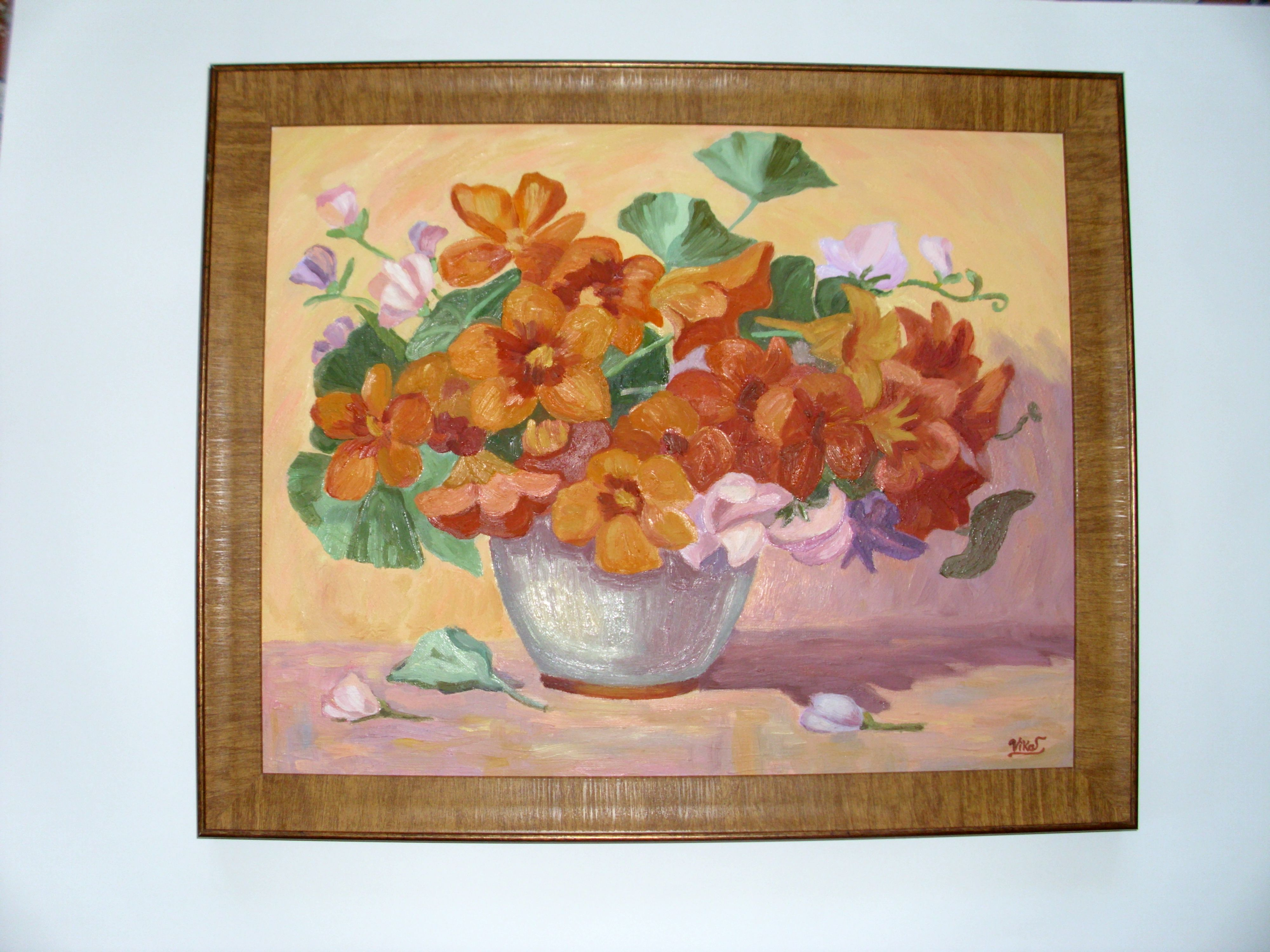 art flowers painting oil picture