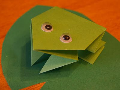 origami folding frog paper crafts