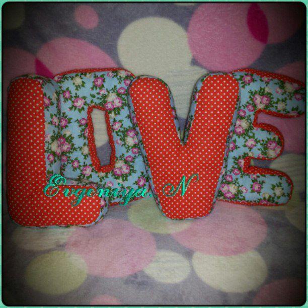 textile letters love