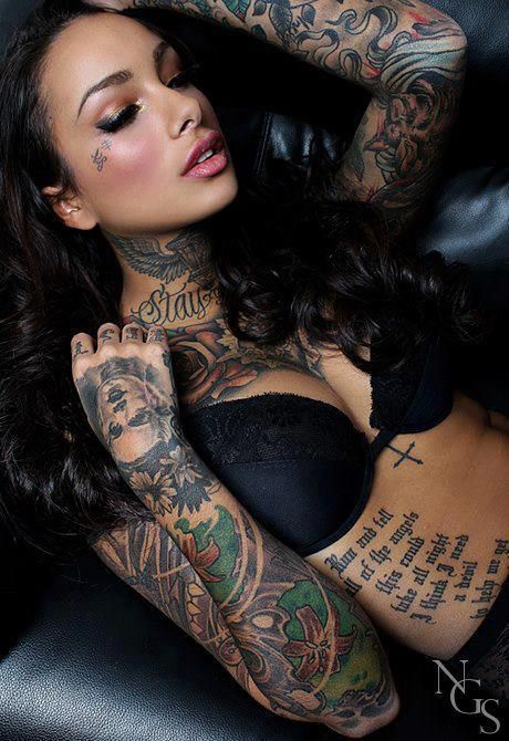 erotic sexy woman beauty flowers girl ink tattoo hot