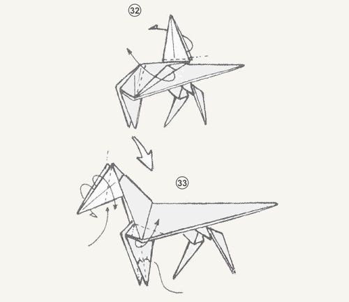 crafts origami paper steed horse