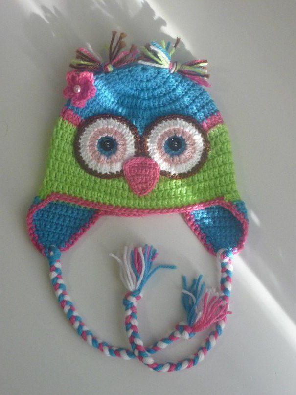 knitted hat kids owl