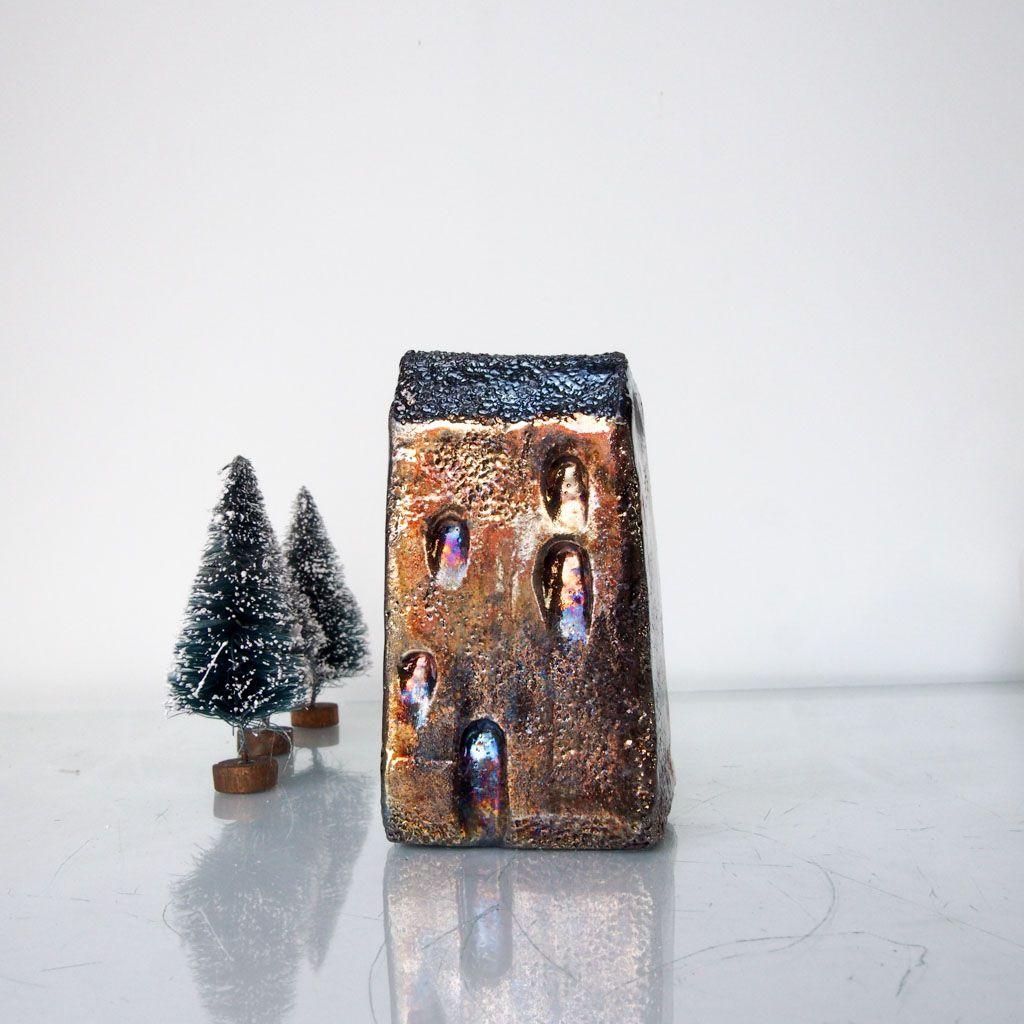pottery christmas gold art