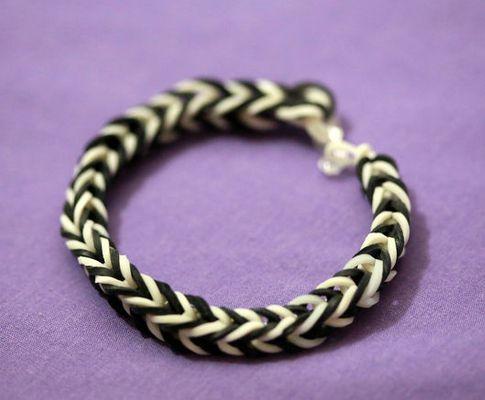fingers bracelet colorful rubber weaving