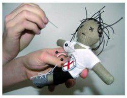 voodoo make doll wood fabric