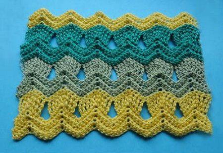 goods zigzag afghans crochet textile