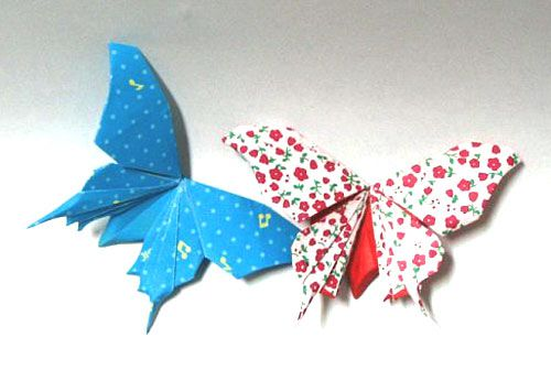 origami folding butterfly paper hack