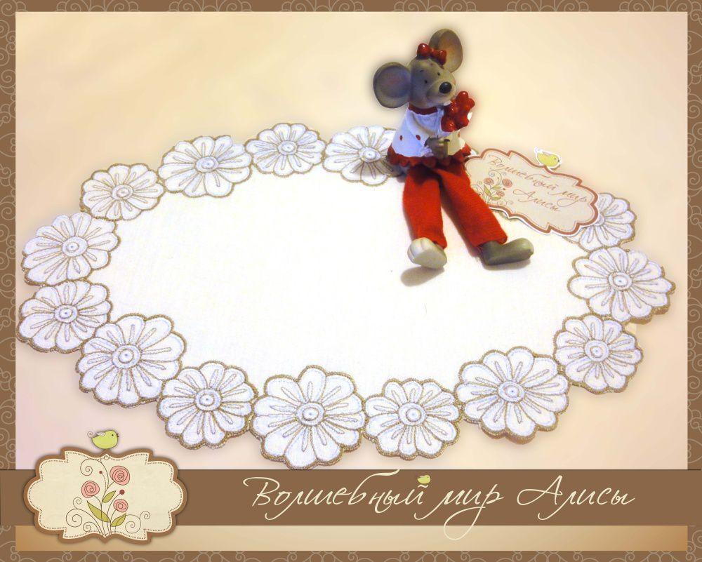 accessories embroidery table white napkin
