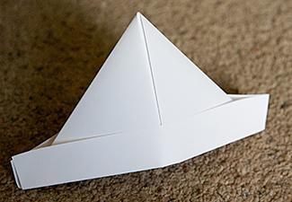 folding scheme origami hat paper