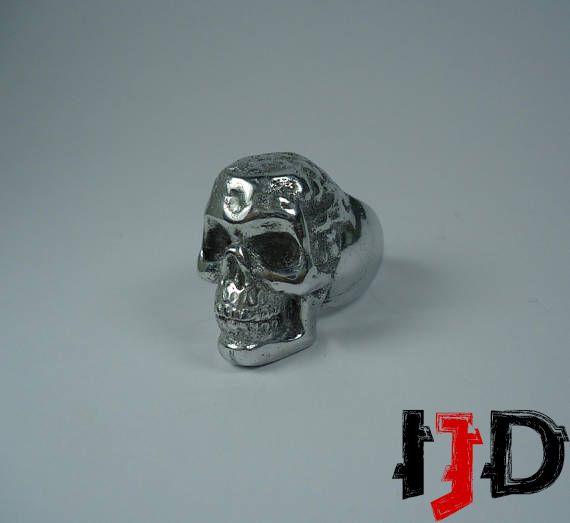 ring jewelry gothic skull metal black alternative vampire biker death