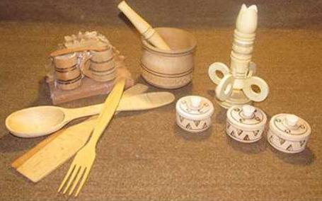 wooden cozy handicraft