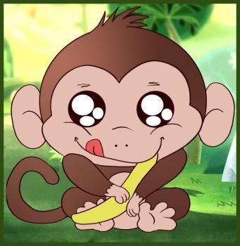 step cartoon art monkey pencil draw