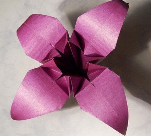 flowers origami crafts paper lily