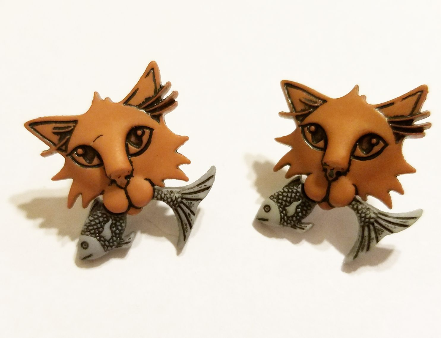 giftsforher kriszcreations earrings jewelry cats