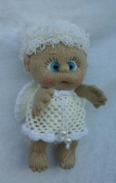 doll toy interior angel kids knitting