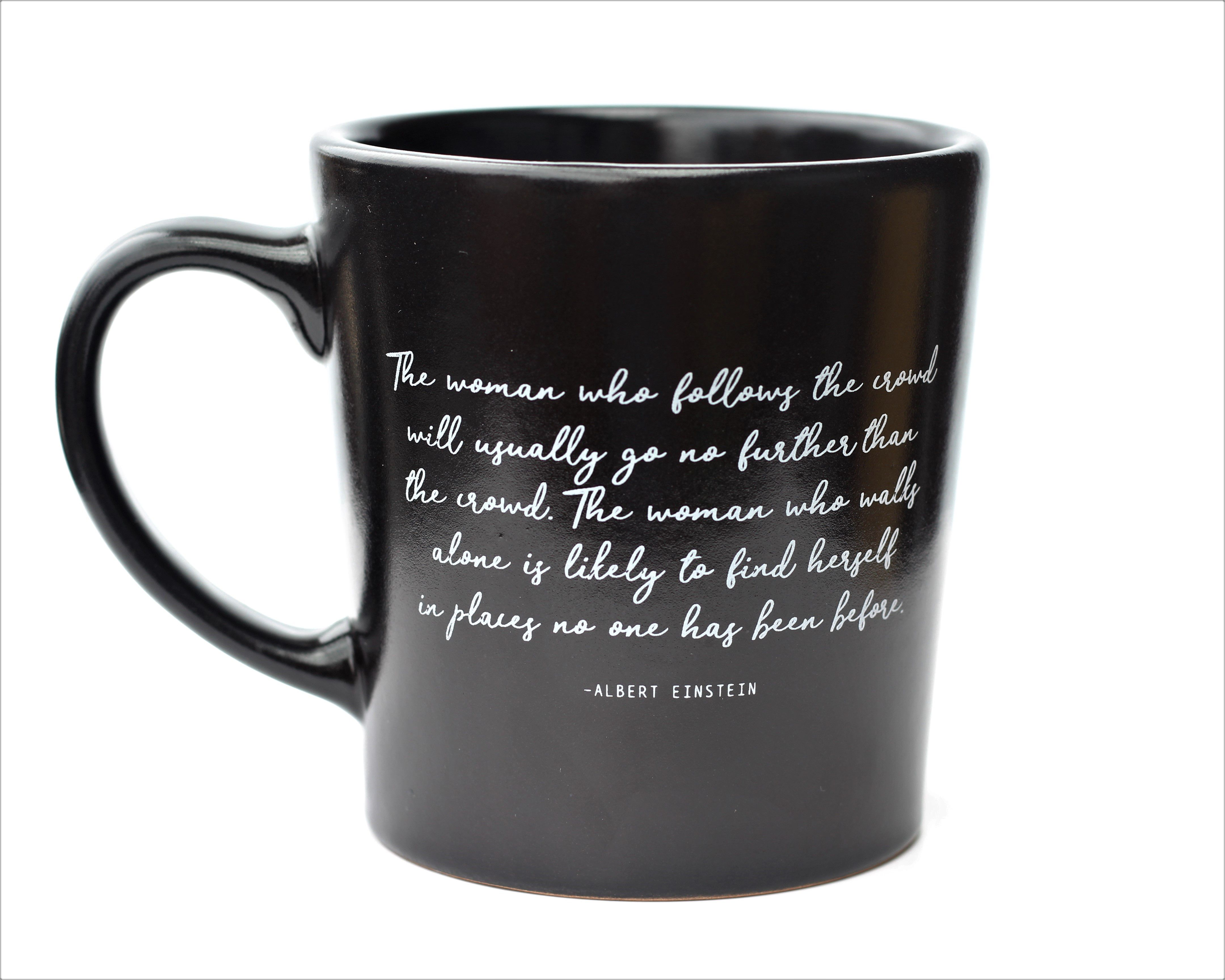 black coffee mug einstein mug ceramic mug einstein quote