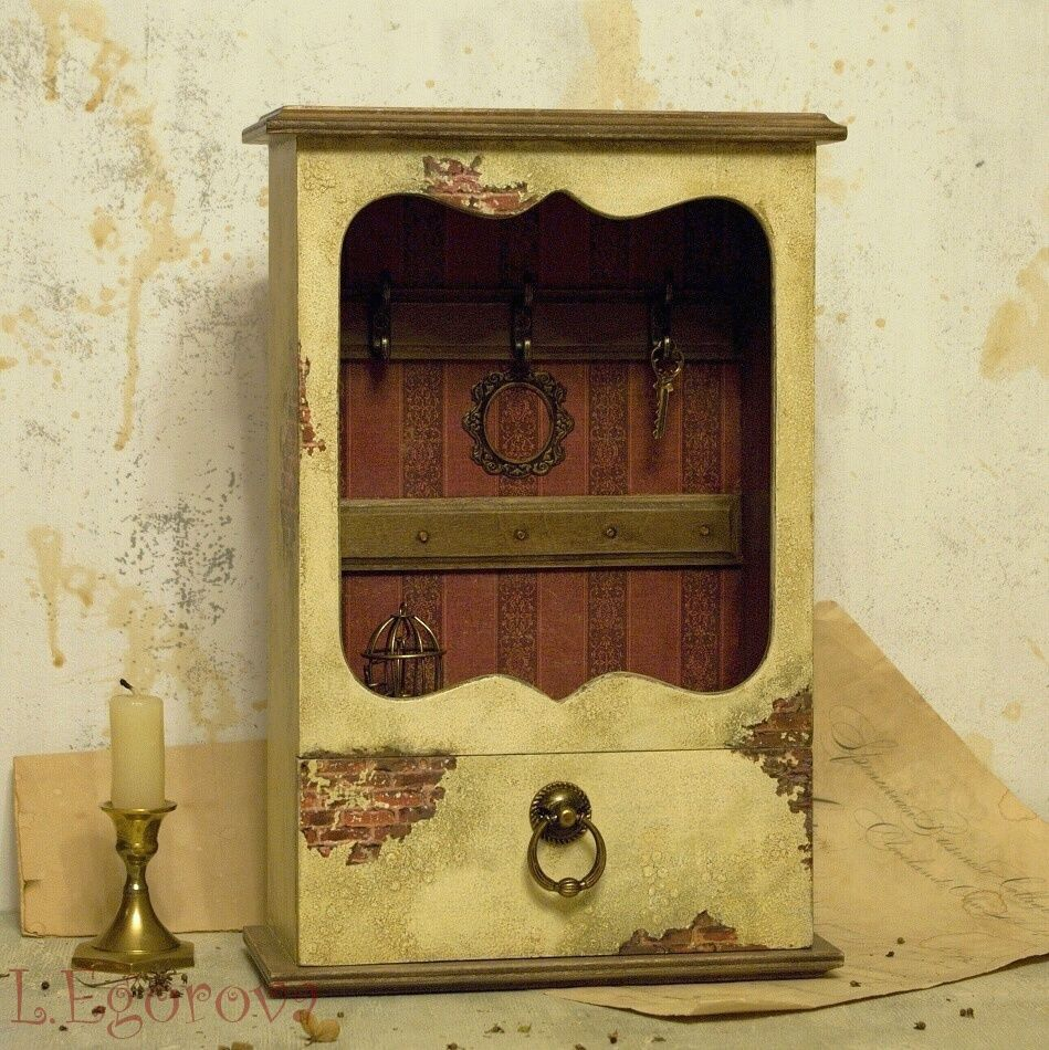 gift vintage decoupage keyholder