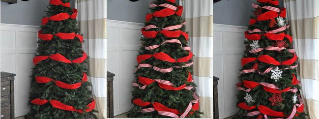 decorate holidays with ribbon tree christmas