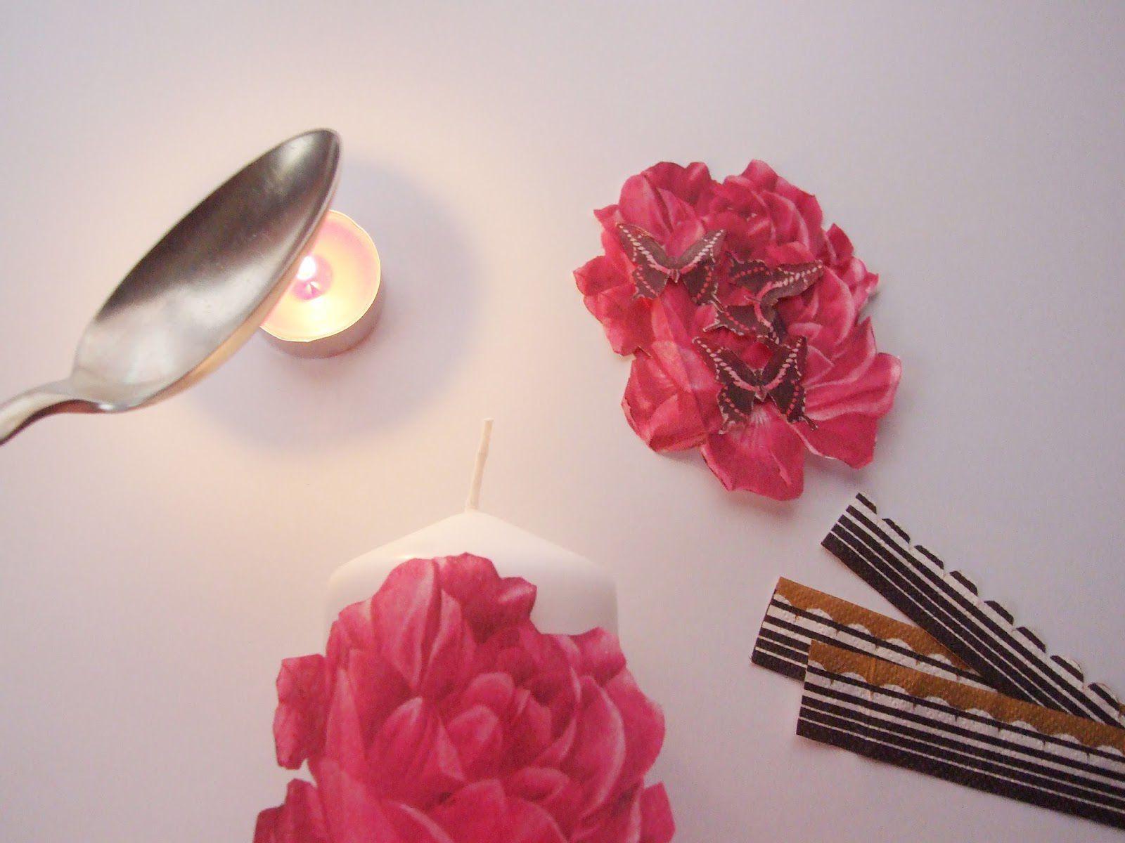 decor diy lovely candles decoupage romantic art
