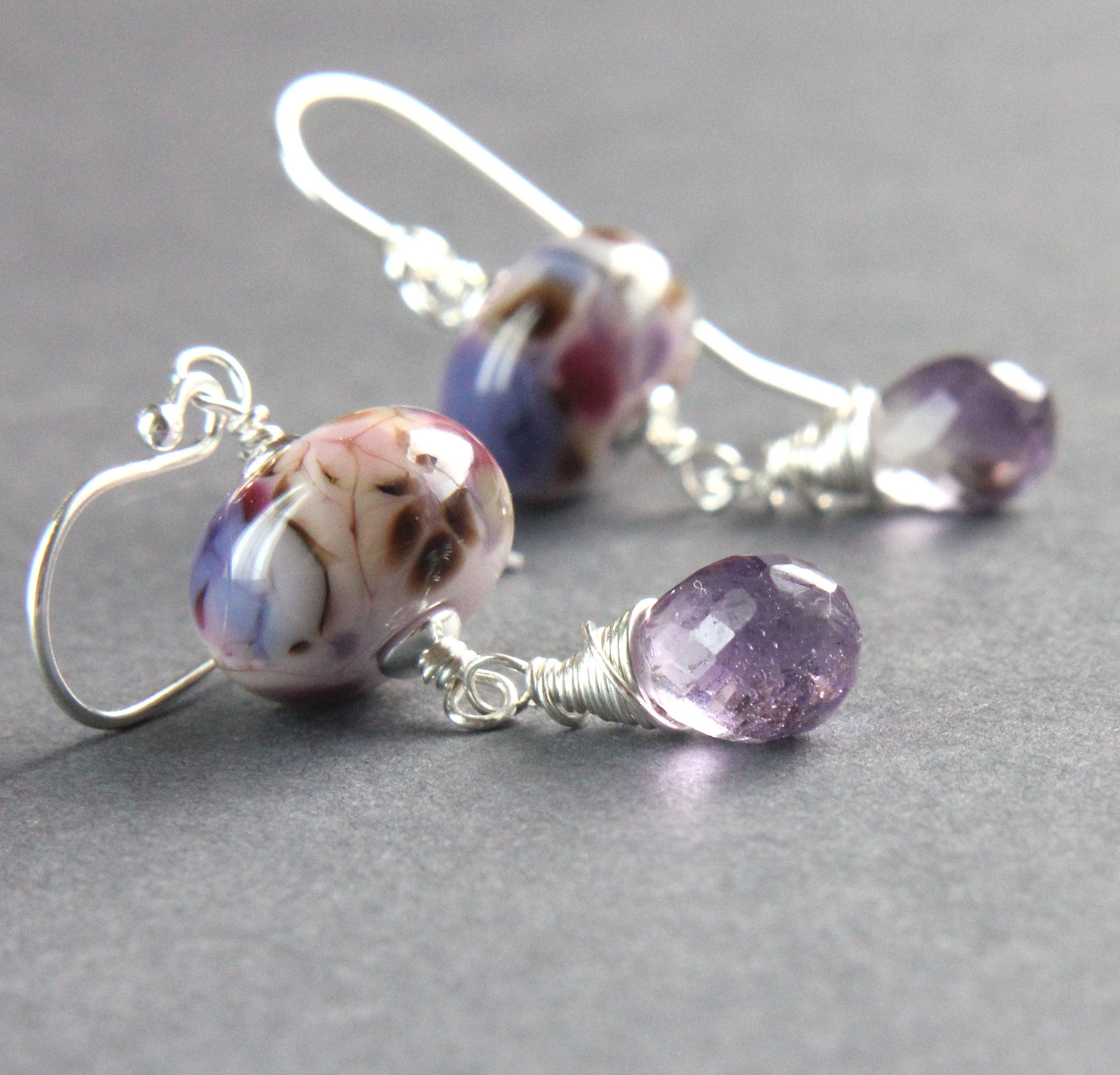 purpleearrings madeforwomen