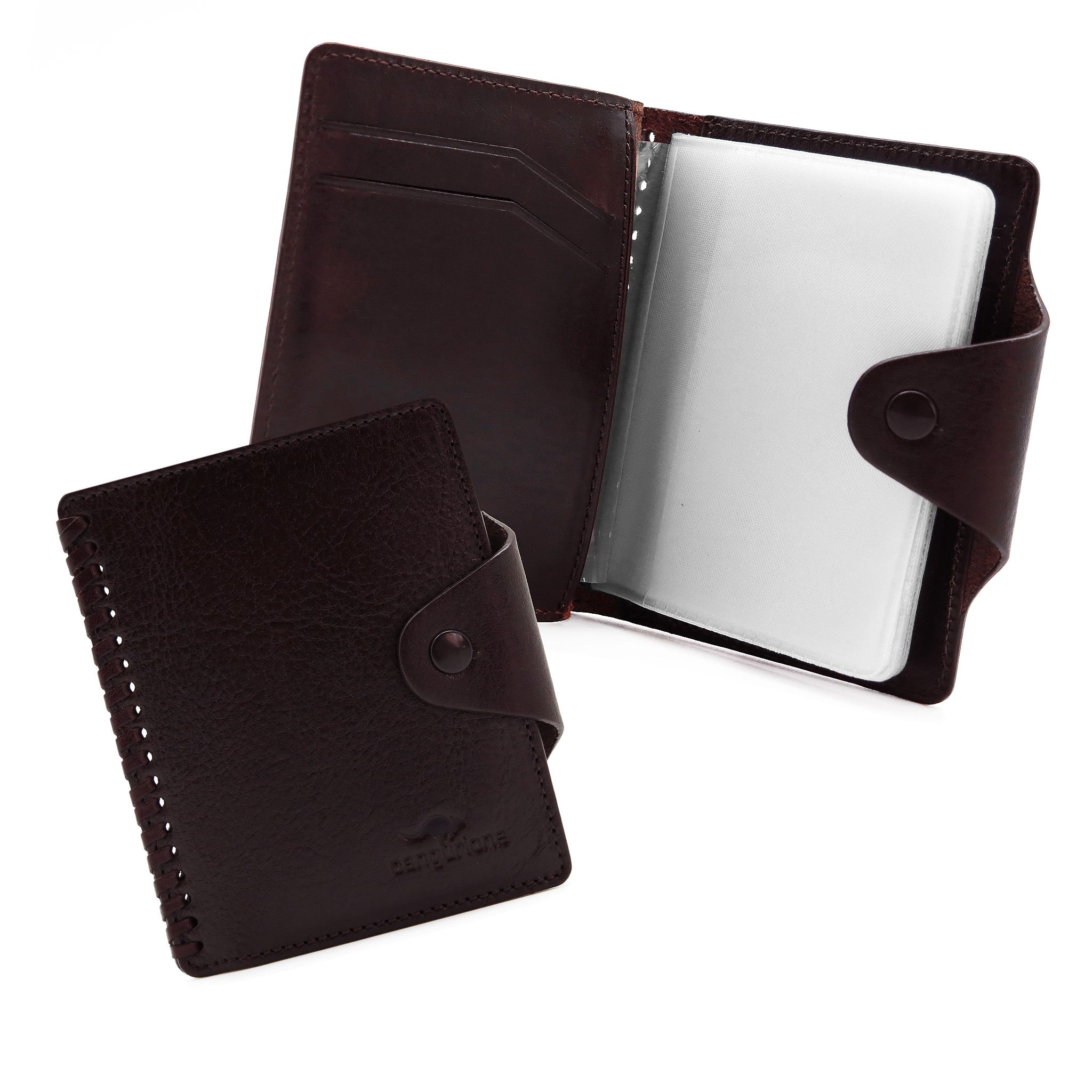 handmade leather accessories cherry cardholder