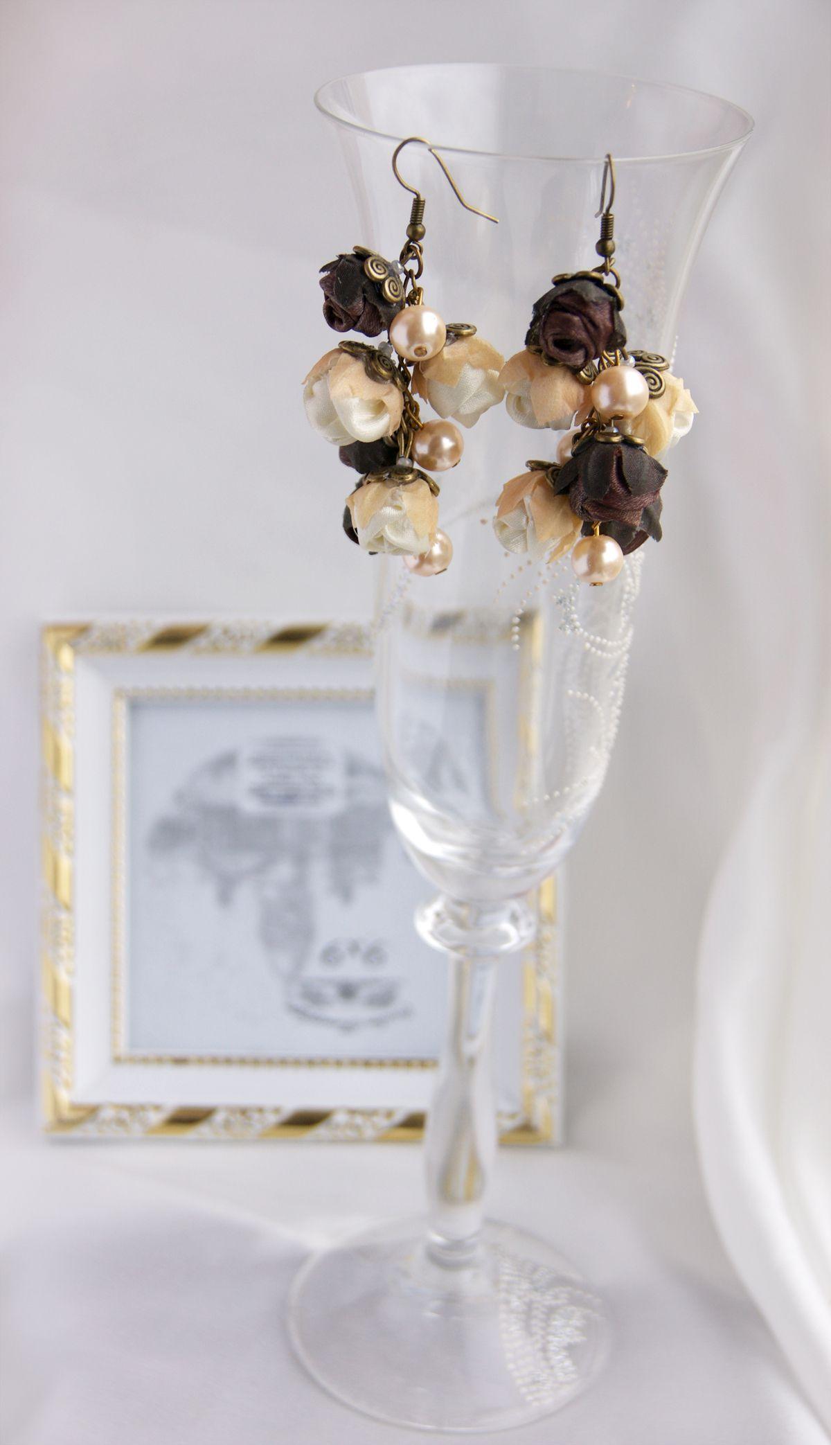 accessories bronze present earrings satin