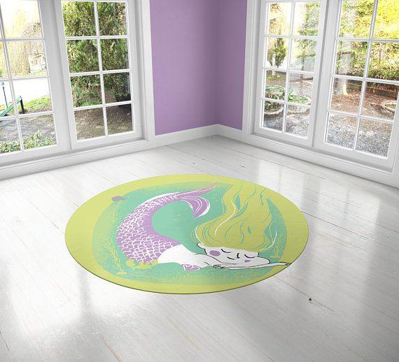 Little Mermaid Pvc Carpet Print Kids Room Decor Girls Carpets Girls Nursery Art Gift For Girls Kids Linoleum Rug Kids Rug