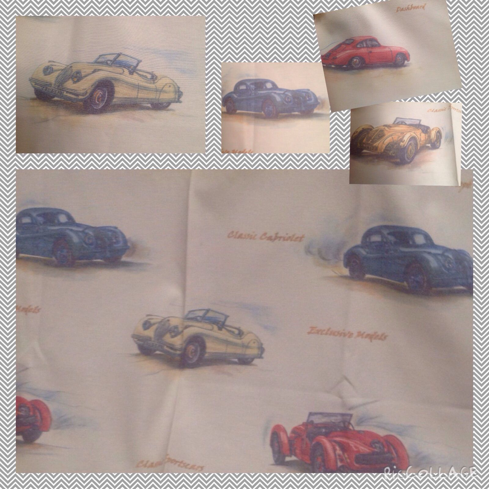 cars children fabric curtains