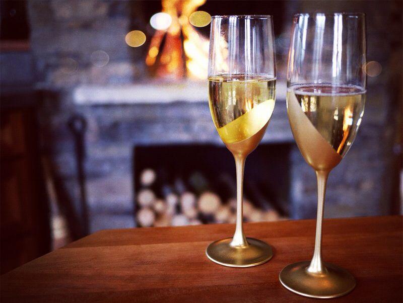 decor fancy golden party champagne diy