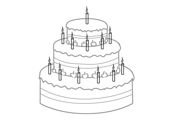 step cake draw pencil art