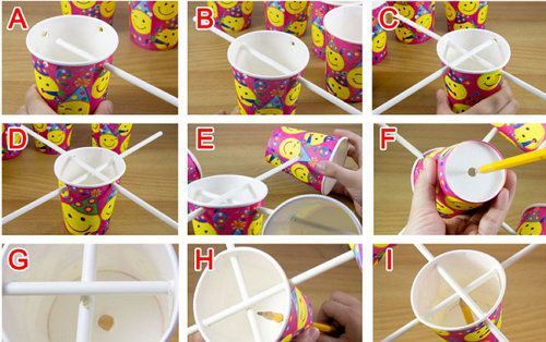 cups anemometer unusual paper make
