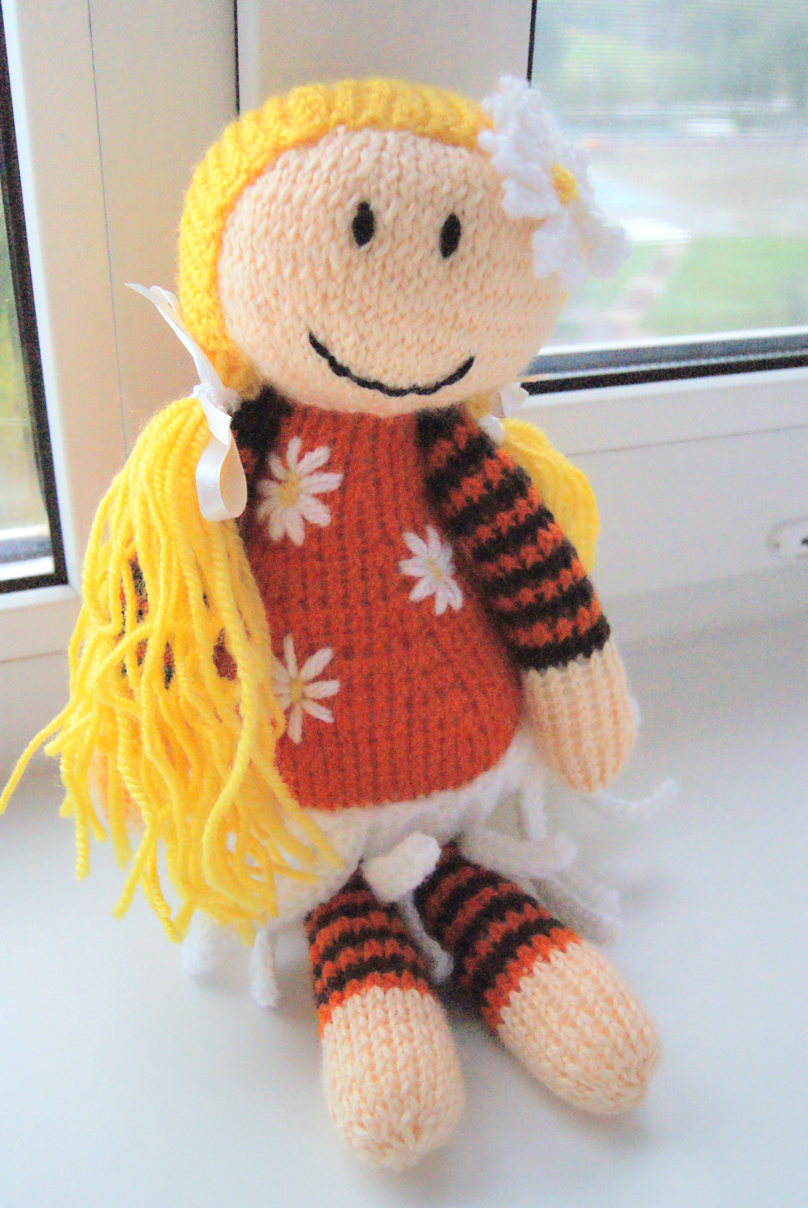 children doll gift knit goldilocks interiordoll