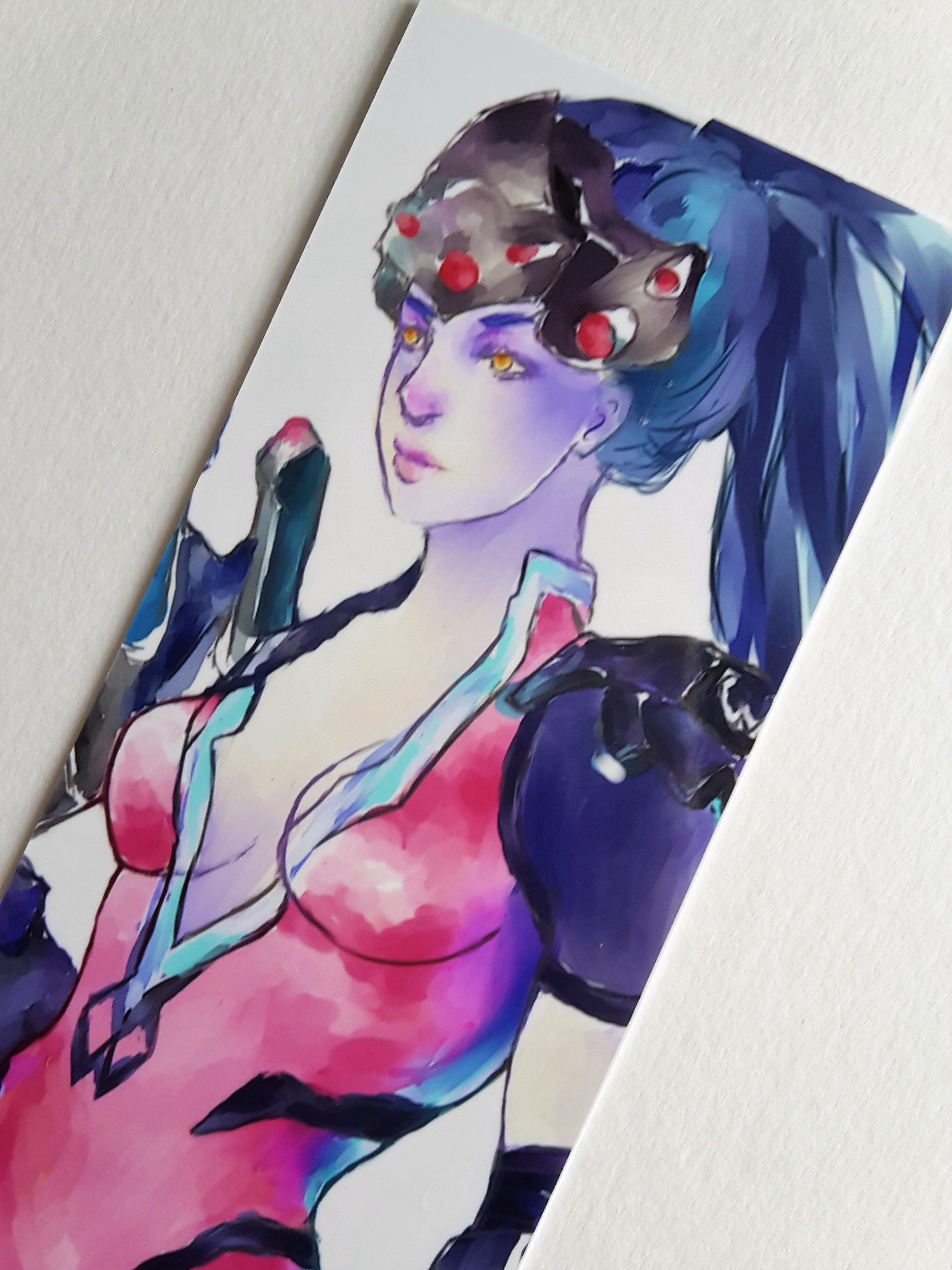 girl overwatch books reading decor game digital bookmark artist widowmaker diy fanart sexy handmade color drawing painting art