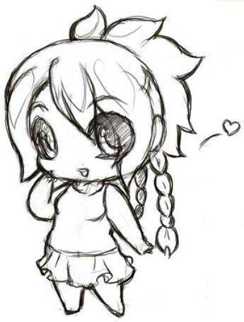chibi art girl tutorial pencil draw