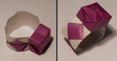 make origami ring paper crafts