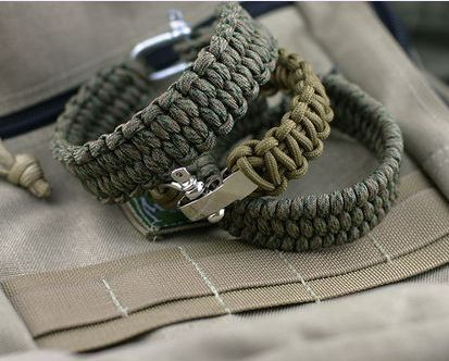 weave paracord make bracelet string