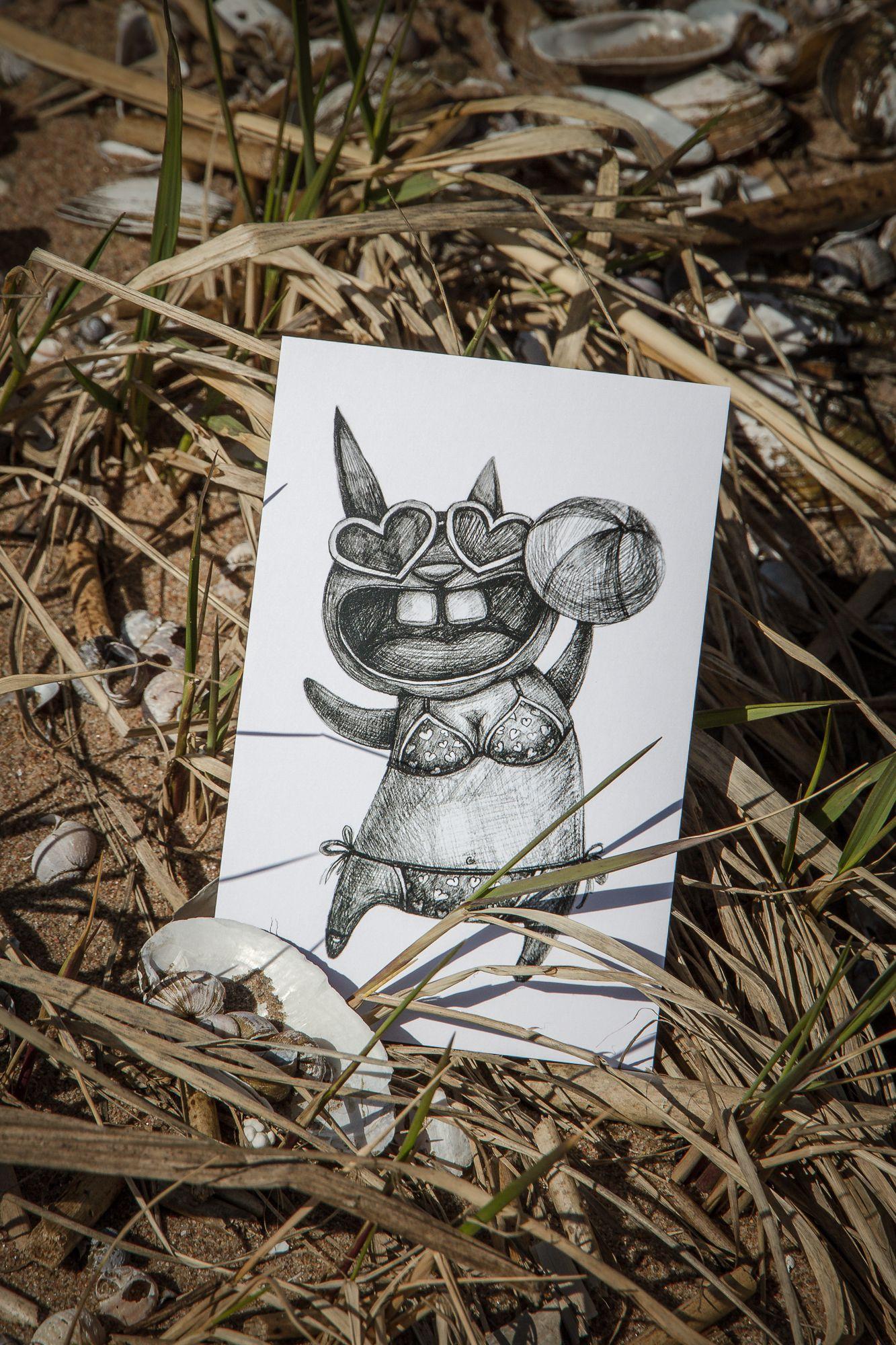 kraft gift postcard beauty handmade summer love