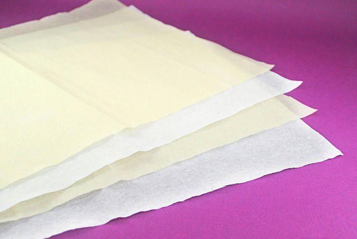 tissue paper make flower gradually